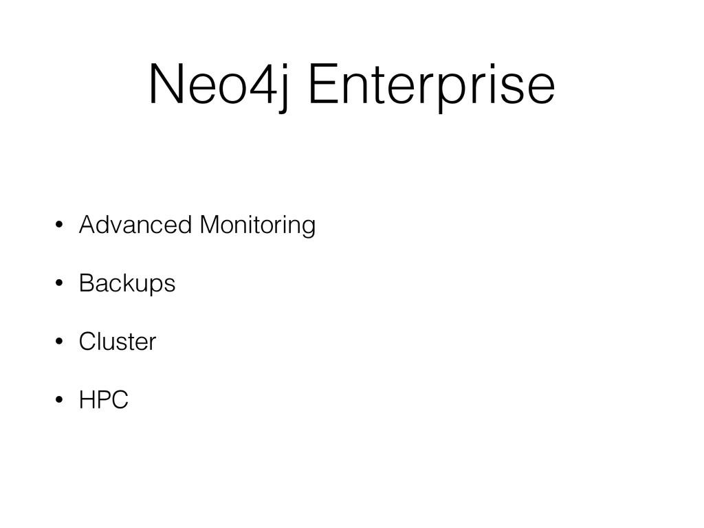 Neo4j Enterprise • Advanced Monitoring • Backup...