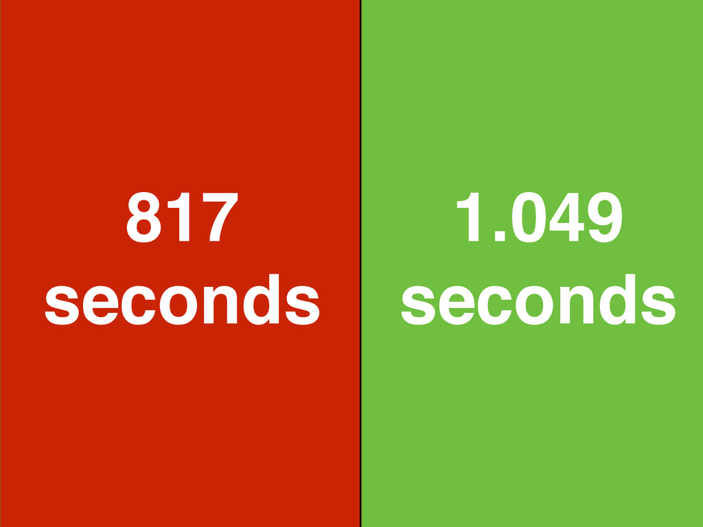 1.049 seconds 817 seconds