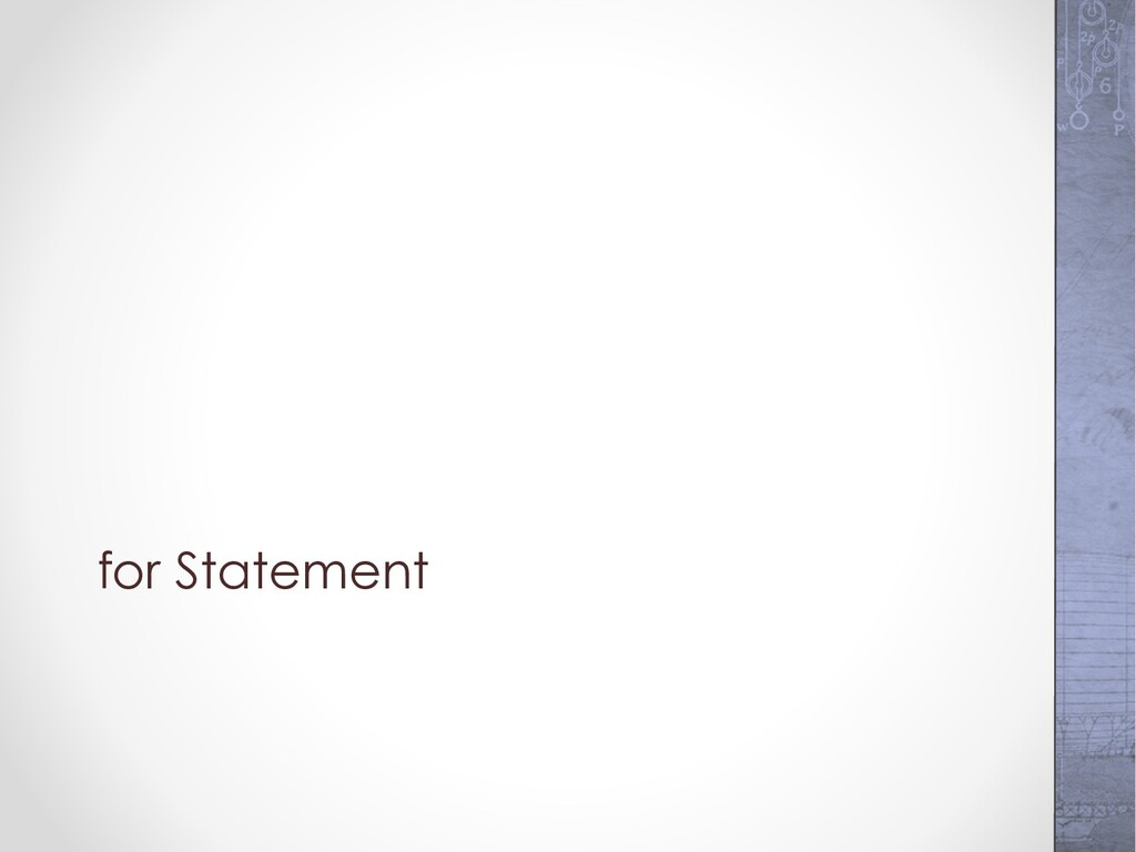 for Statement