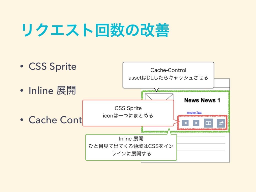 • CSS Sprite • Inline ల։ • Cache Control ϦΫΤετճ...