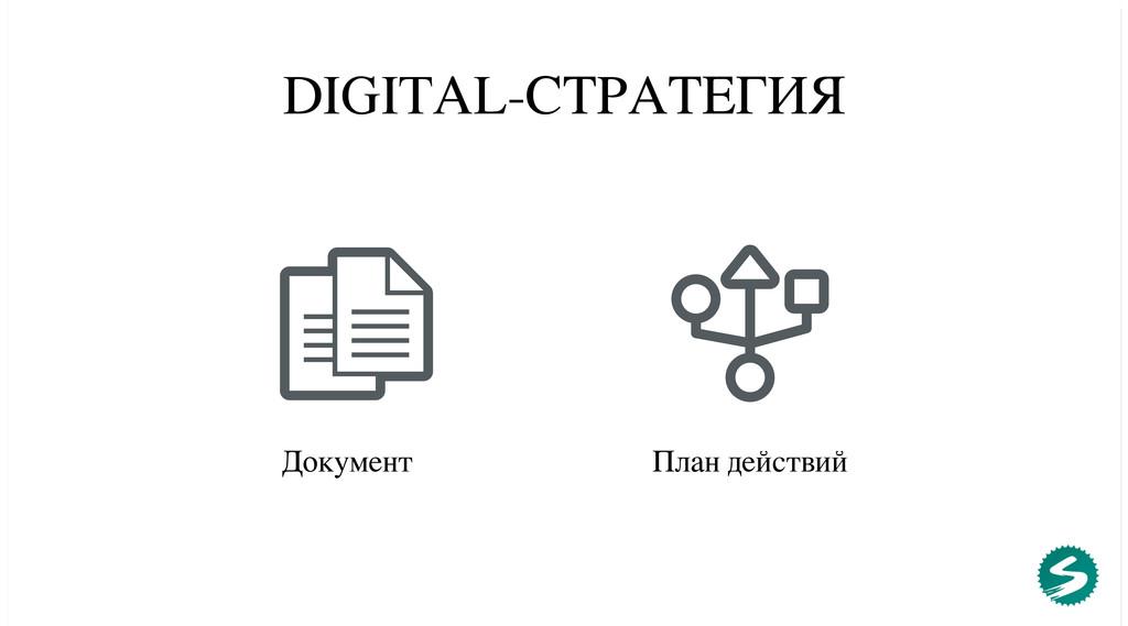 DIGITAL-СТРАТЕГИЯ Документ План действий