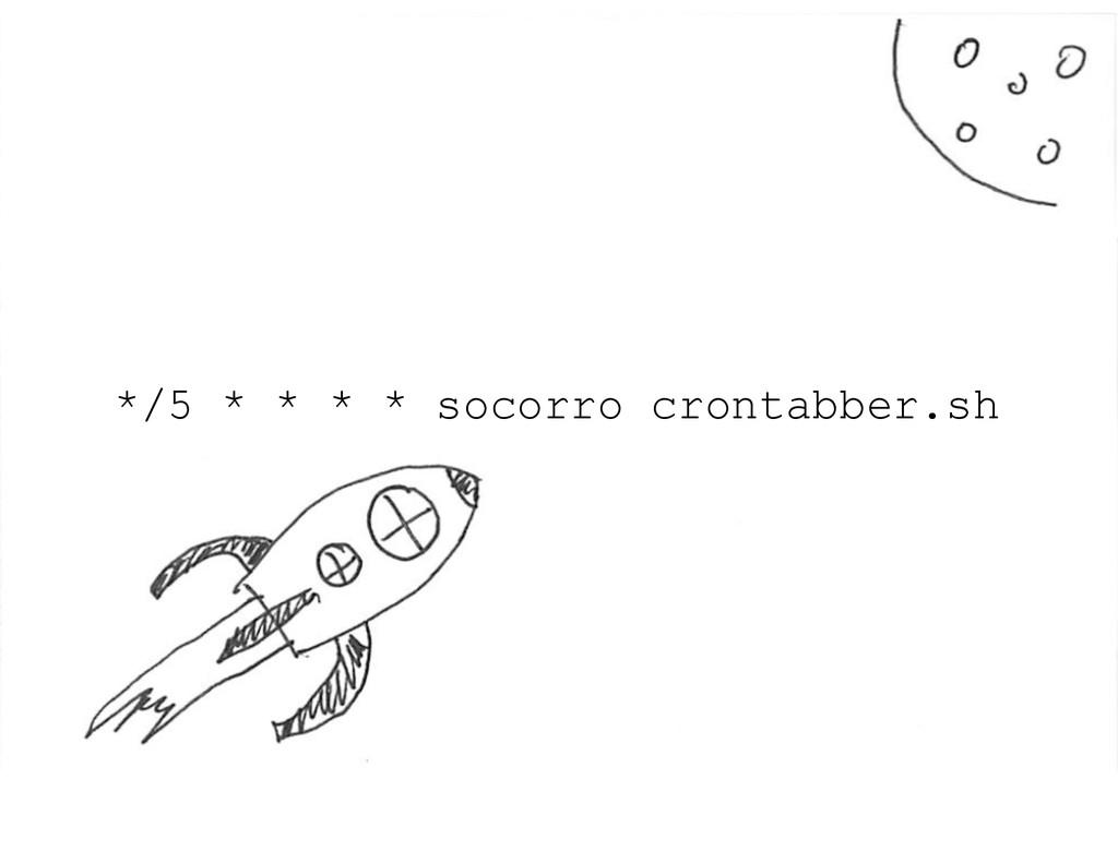*/5 * * * * socorro crontabber.sh