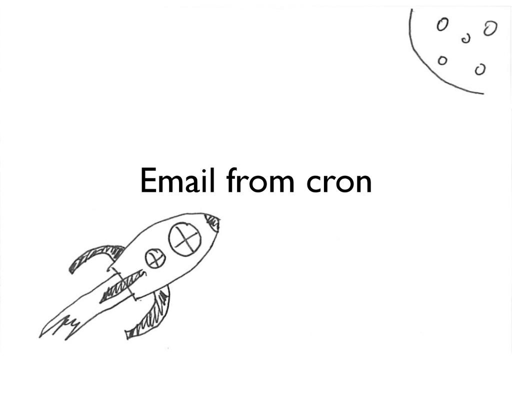 Email from cron