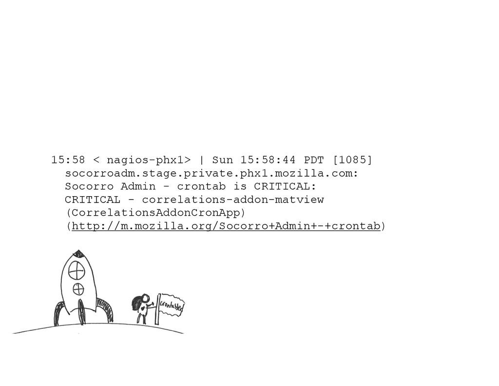 15:58 < nagios-phx1> | Sun 15:58:44 PDT [1085] ...