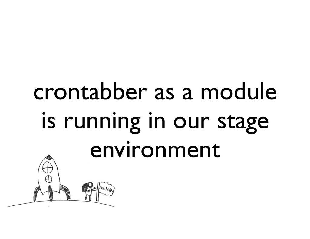 crontabber as a module is running in our stage ...