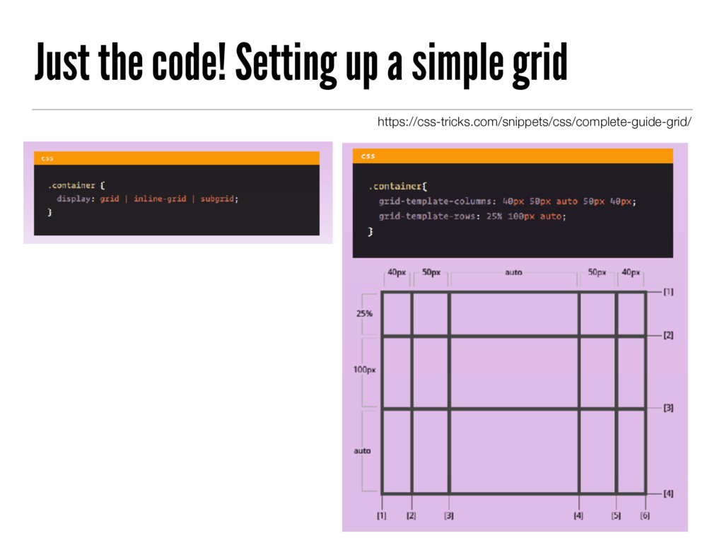 Just the code! Setting up a simple grid https:/...