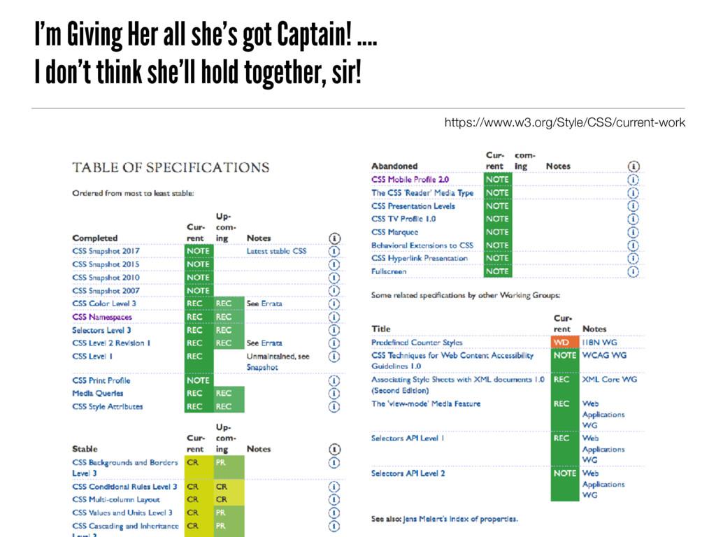 I'm Giving Her all she's got Captain! .... I do...