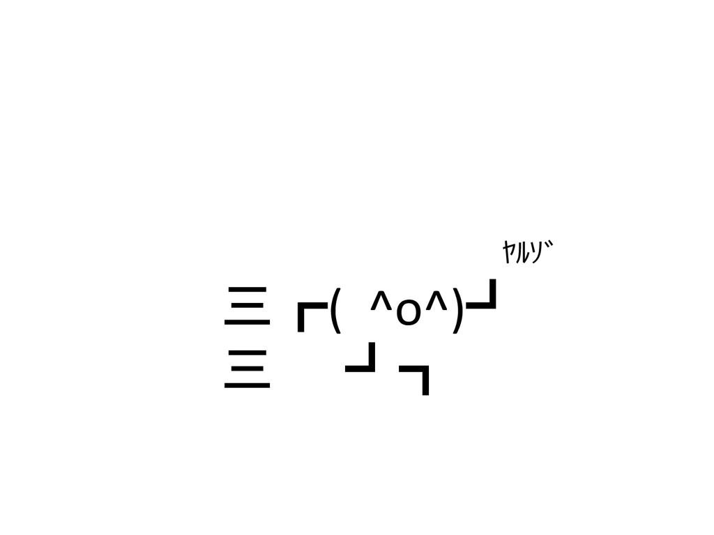 三┏(  ^o^)┛        三  ┛┓  ヤルゾ