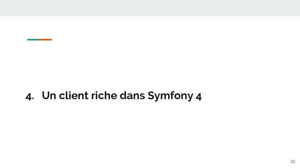 4. Un client riche dans Symfony 4 32