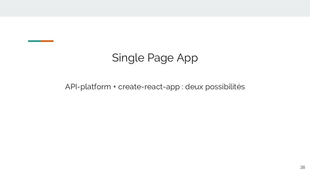 38 Single Page App API-platform + create-react-...