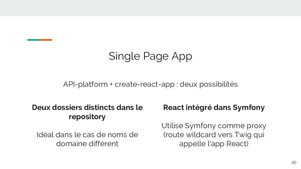 40 Single Page App API-platform + create-react-...