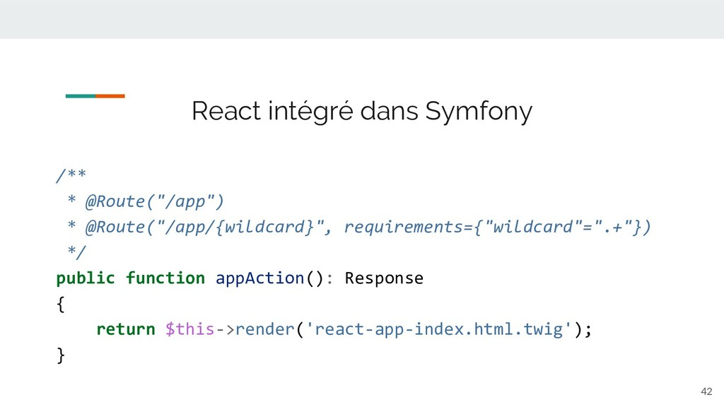 """42 React intégré dans Symfony /** * @Route(""""/ap..."""