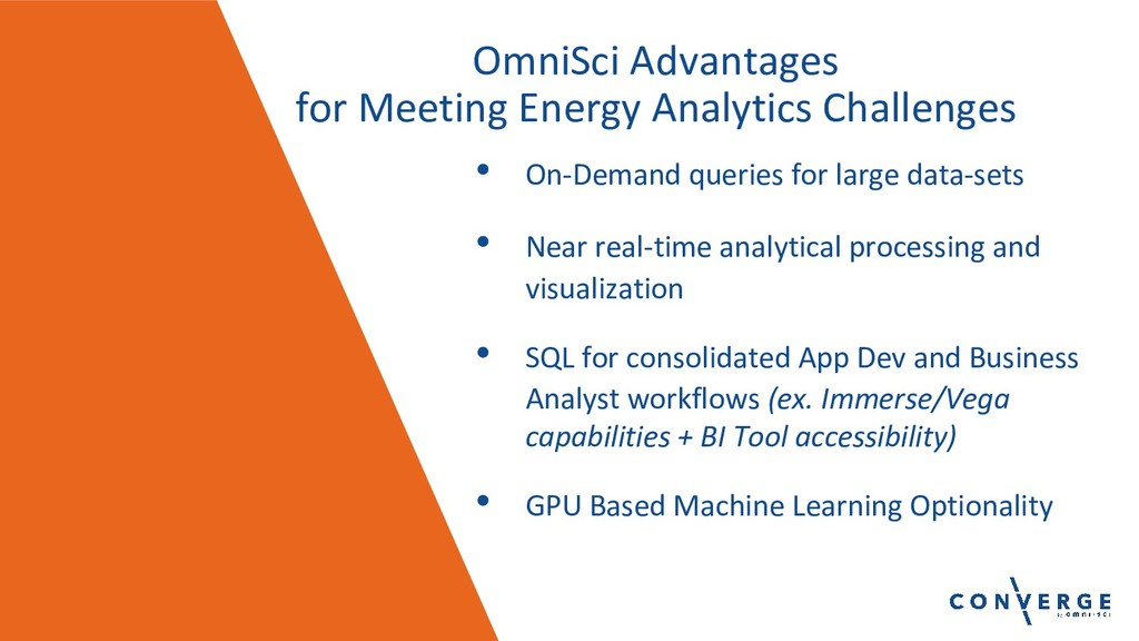 OmniSci Advantages for Meeting Energy Analytics...