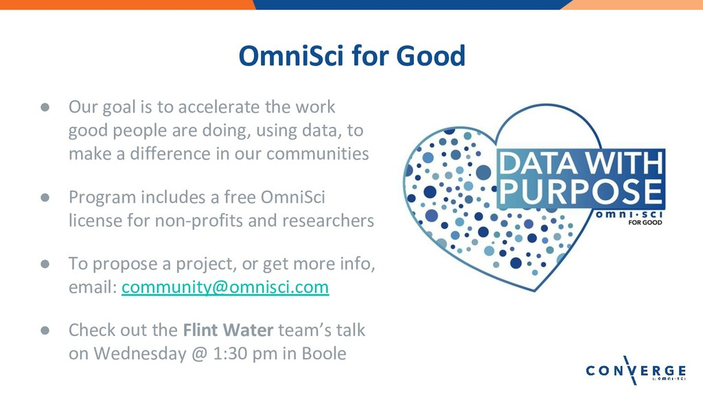 OmniSci for Good ● Our goal is to accelerate th...