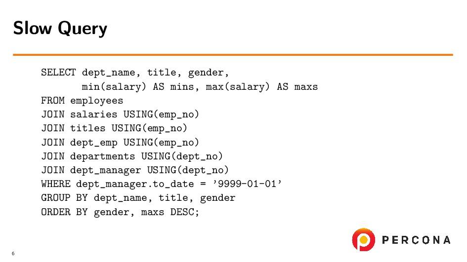 SELECT dept_name, title, gender, min(salary) AS...