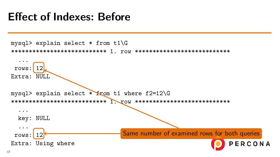 mysql> explain select * from t1\G *************...