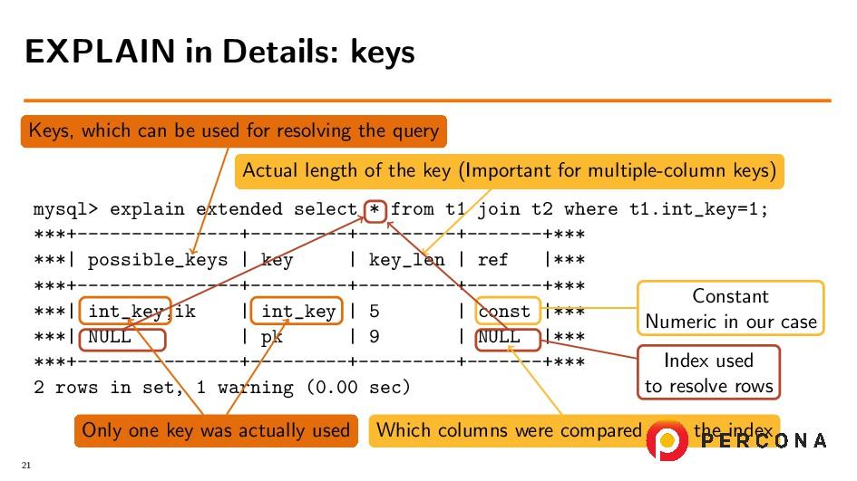 mysql> explain extended select * from t1 join t...