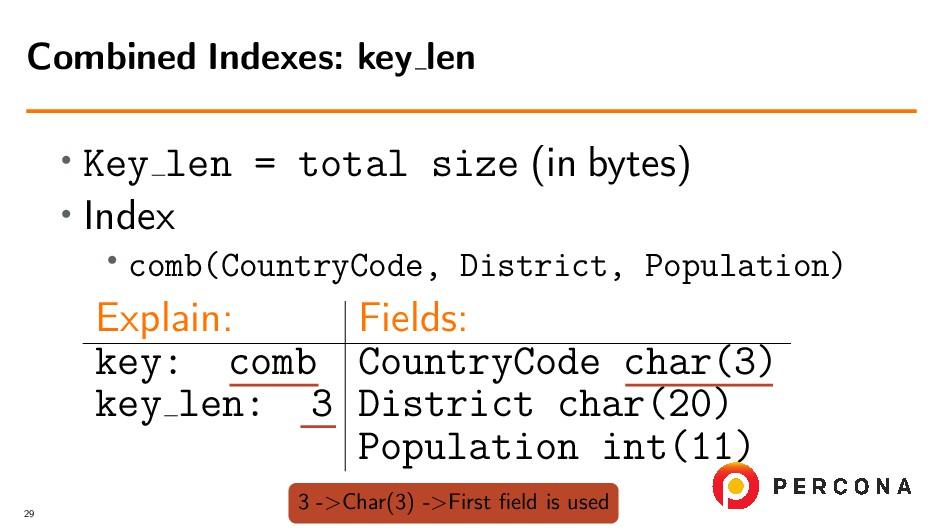 • Key len = total size (in bytes) • Index • com...