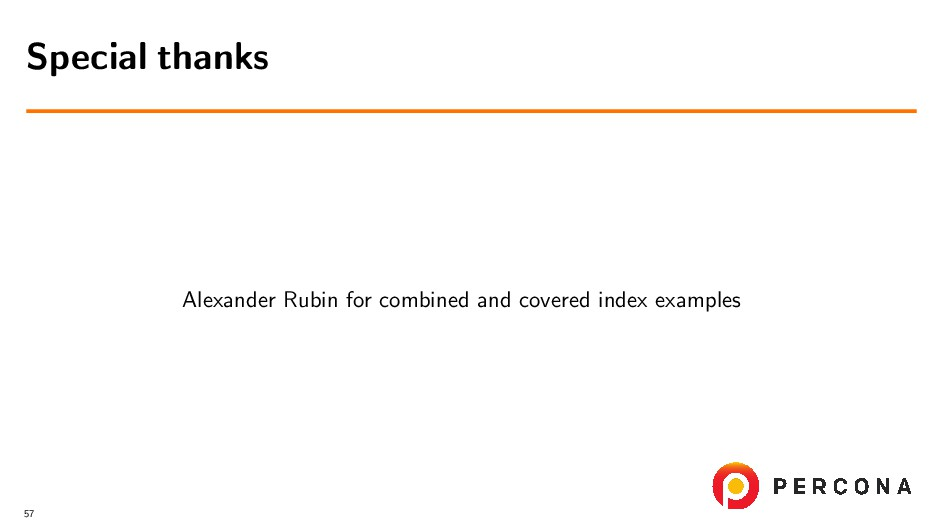 Alexander Rubin for combined and covered index ...
