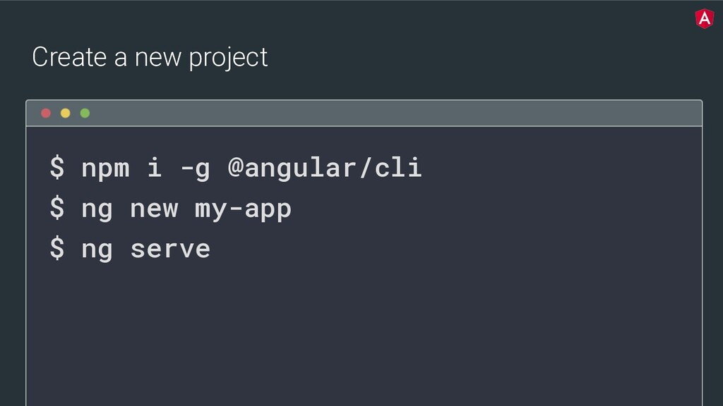 @yourtwitter $ npm i -g @angular/cli $ ng new m...