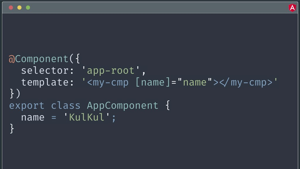 @yourtwitter @Component({ selector: 'app-root',...