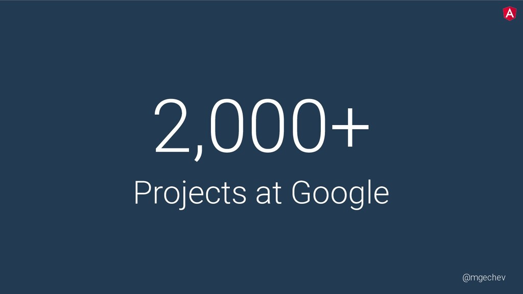 @mgechev 2,000+ Projects at Google