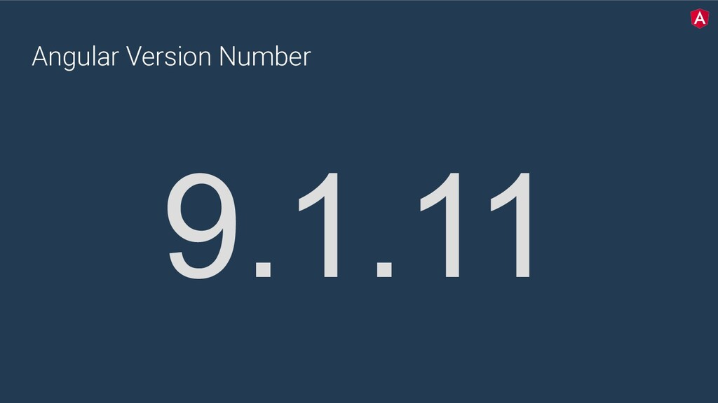 Angular Version Number 9.1.11