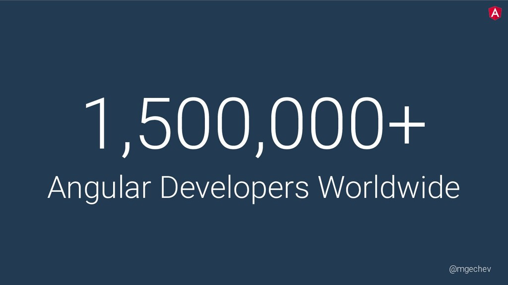 @mgechev 1,500,000+ Angular Developers Worldwide