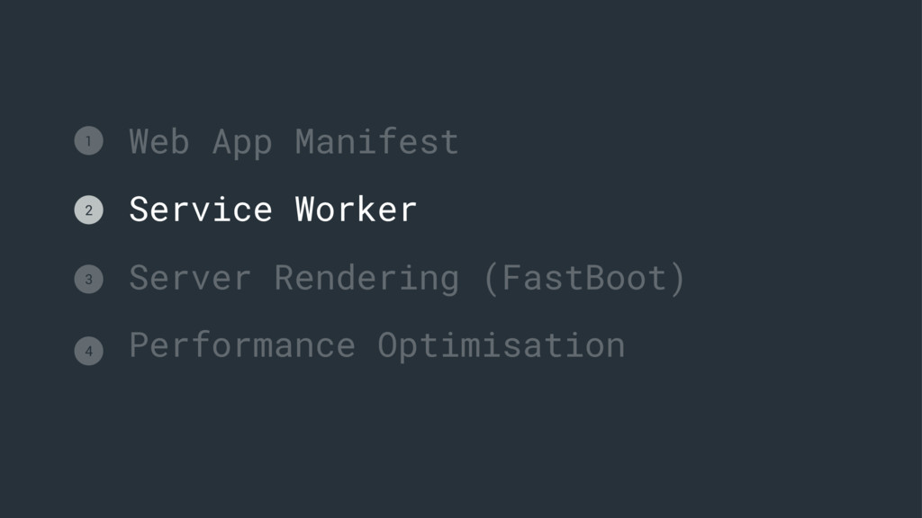 Web App Manifest Service Worker Server Renderin...