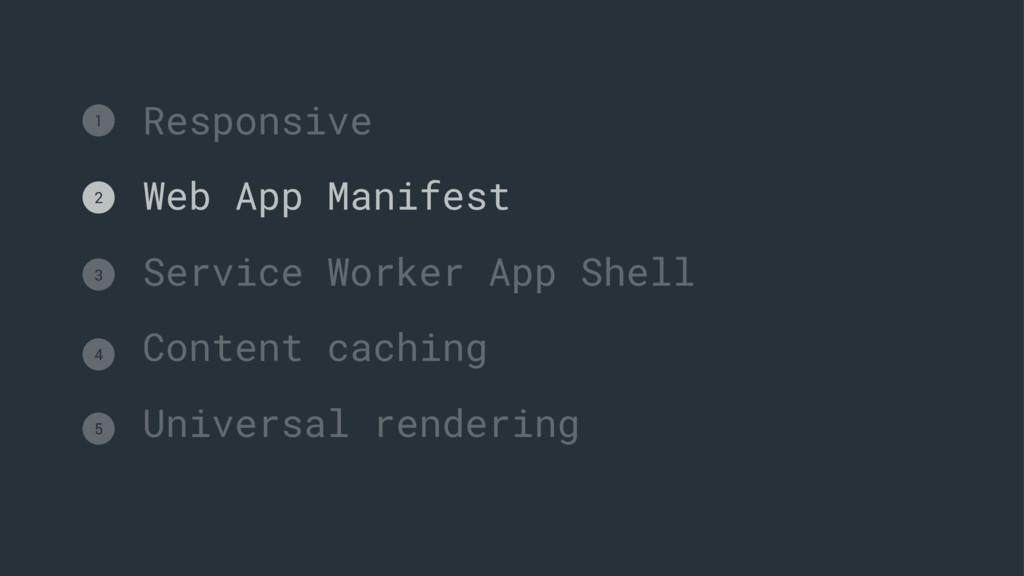 Responsive Web App Manifest Service Worker App ...