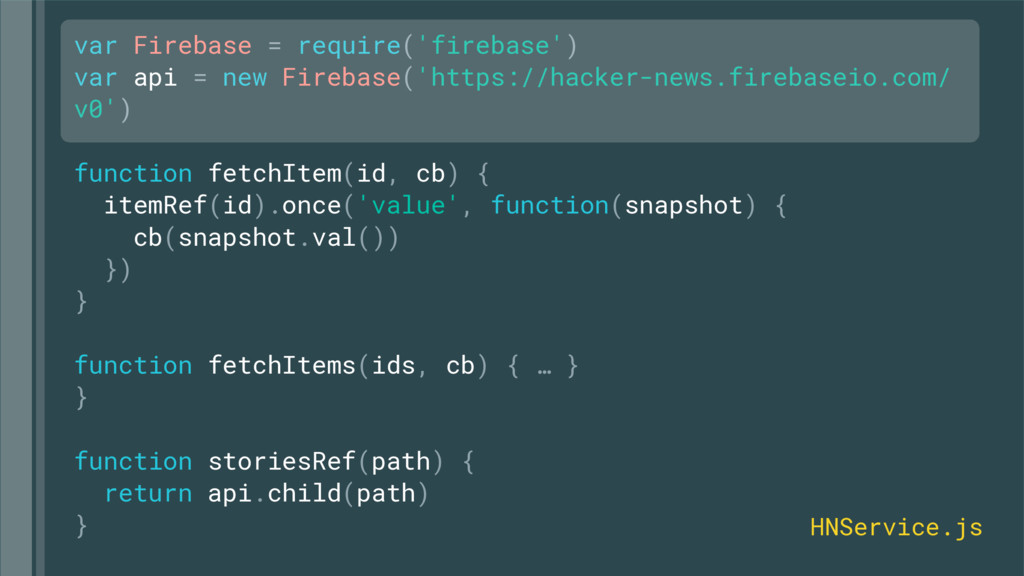 var Firebase = require('firebase') var api = ne...
