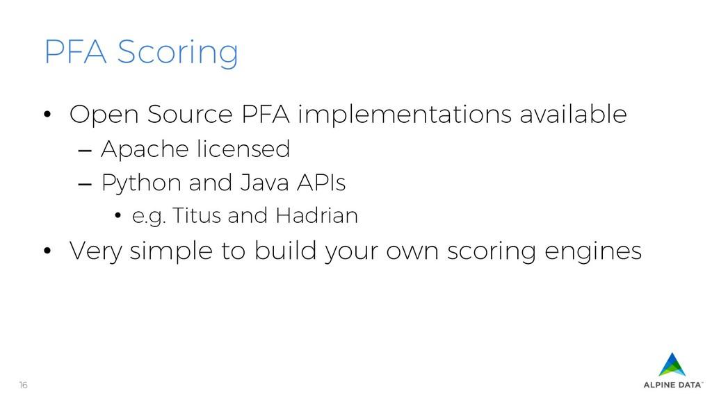 16 PFA Scoring • Open Source PFA implementatio...