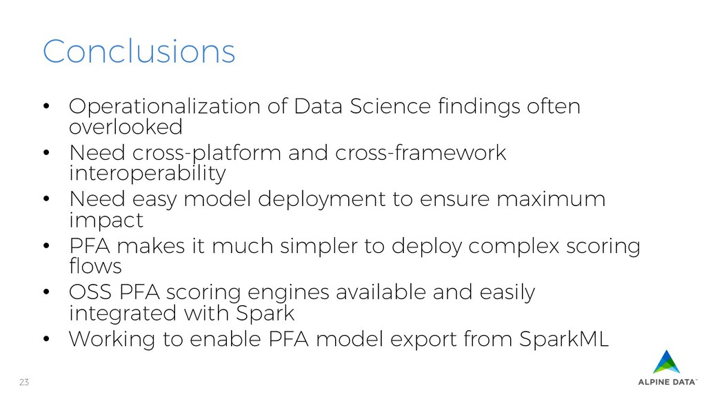 23 Conclusions • Operationalization of Data Sc...