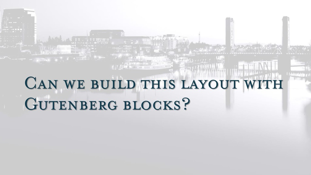 Can we build this layout with Gutenberg blocks?