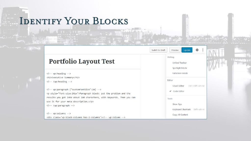 Identify Your Blocks