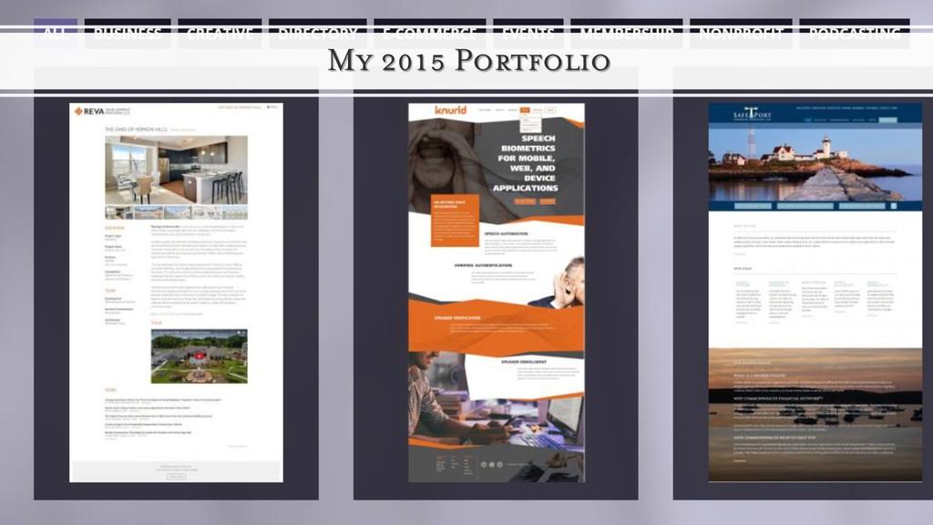 My 2015 Portfolio