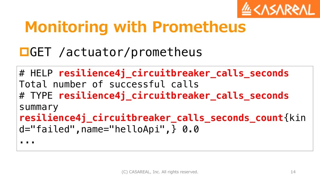 Monitoring with Prometheus pGET /actuator/prome...