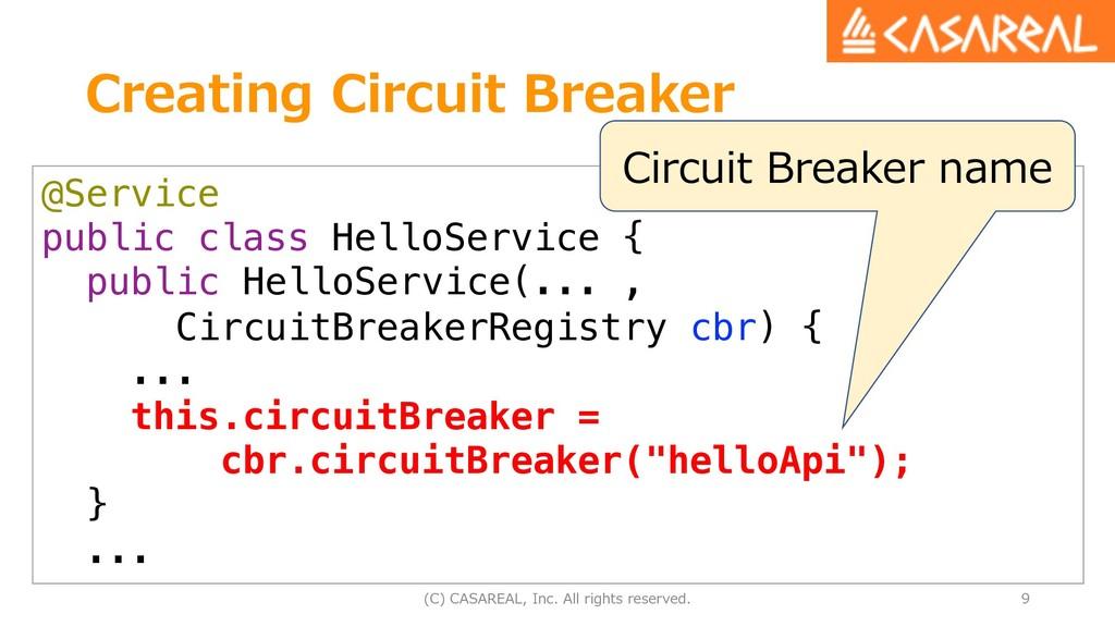 Creating Circuit Breaker (C) CASAREAL, Inc. All...