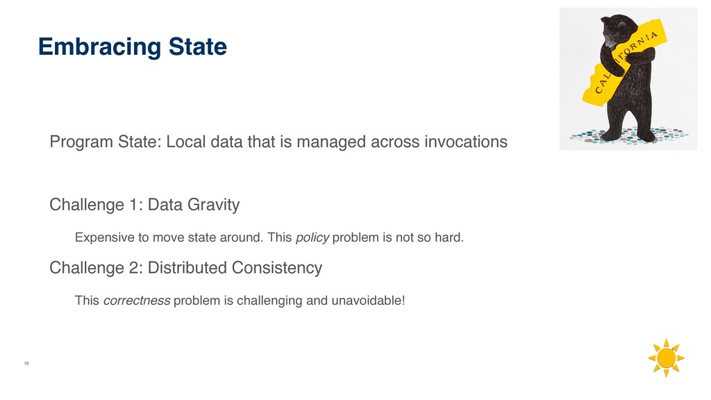 16 Embracing State Program State: Local data th...