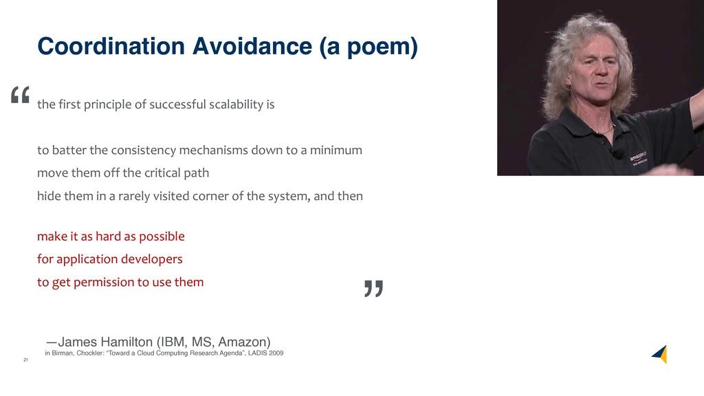 21 Coordination Avoidance (a poem) the first pr...