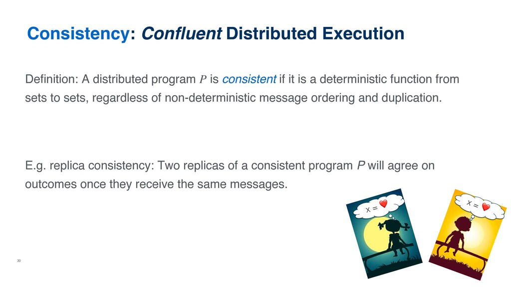 30 Consistency: Confluent Distributed Execution...