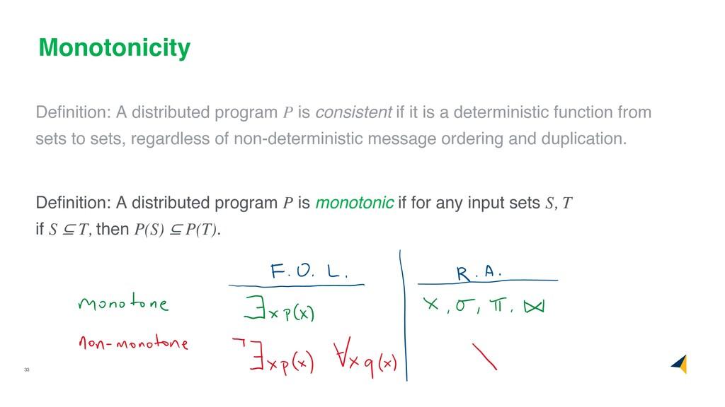 33 Monotonicity Definition: A distributed progra...