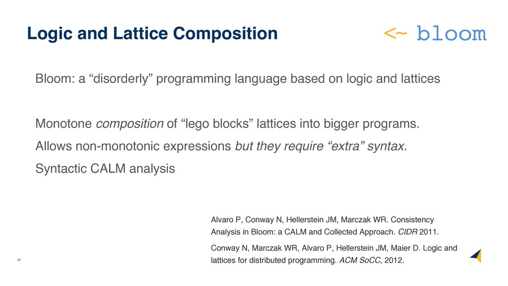 """39 Logic and Lattice Composition Bloom: a """"diso..."""