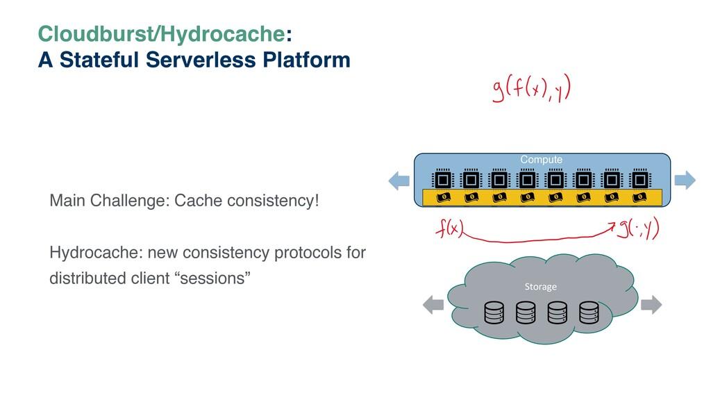Cloudburst/Hydrocache: A Stateful Serverless Pl...