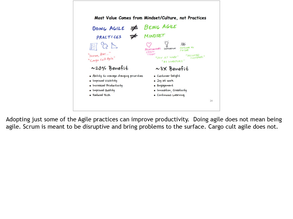 24 Adopting just some of the Agile practices ca...