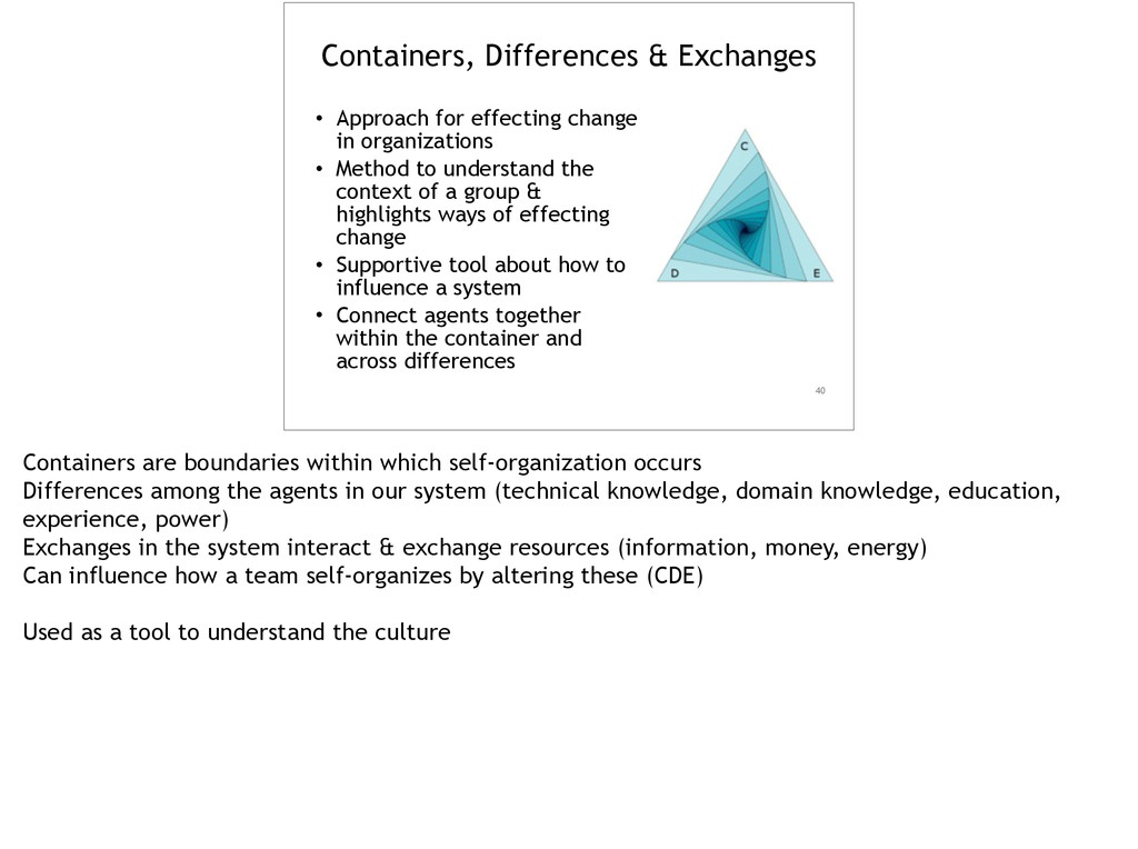 Containers, Differences & Exchanges • Approach ...