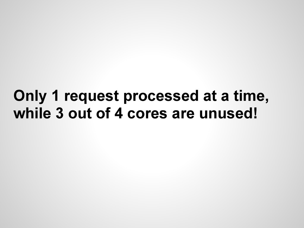 Only 1 request processed at a time, while 3 out...