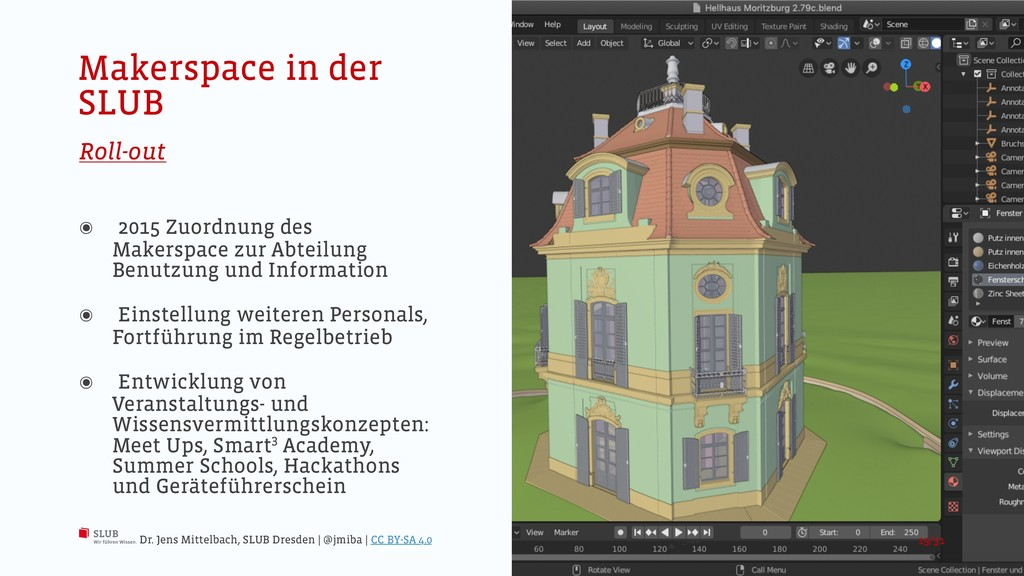 Makerspace in der SLUB Roll-out ๏ 2015 Zuordnun...