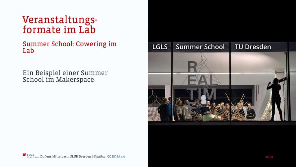Veranstaltungs- formate im Lab Summer School: C...