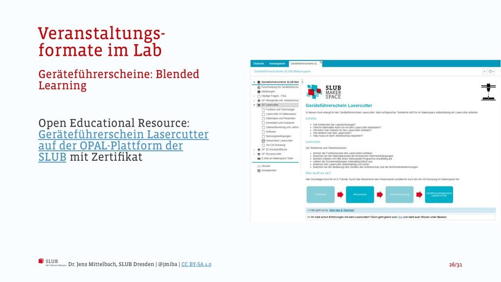 Veranstaltungs- formate im Lab Geräteführersche...